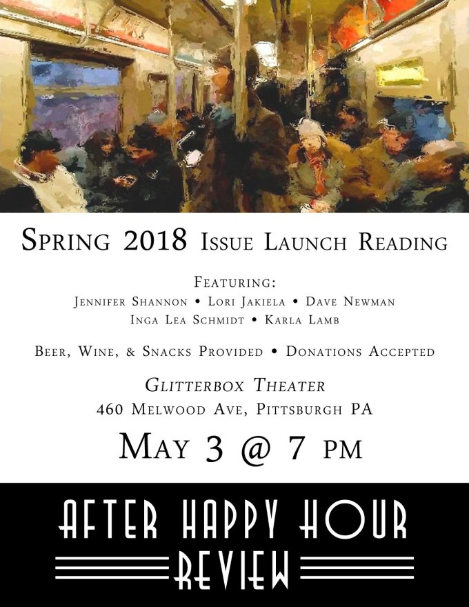 Spring 2018 Issue Launch Reading Flyer